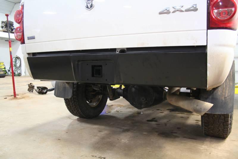 Short Bed Truck >> BHP 03-14 Dodge Short/Long Bed BEHIND Roll Pan 2 inch Hidden Receiver Hitch