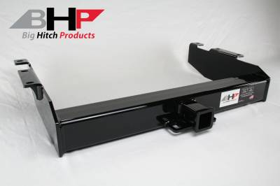 Below Stock Bumper Receiver - Big Hitch Products - BHP 01-07 GM Long Box Stock Bumper 2 inch Receiver Hitch