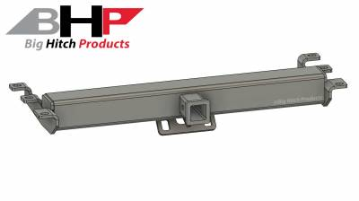 Big Hitch Products - BHP 99-18 GM Short Box BEHIND Roll Pan 2 inch Hidden Receiver Hitch