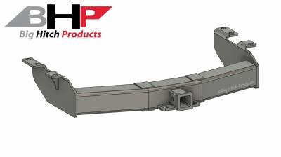 Big Hitch Products - BHP 01-10 GM Short Box Stock Bumper 2 inch Receiver Hitch