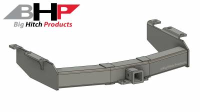 Big Hitch Products - BHP 01-10 GM Long Box Stock Bumper 2 inch Receiver Hitch