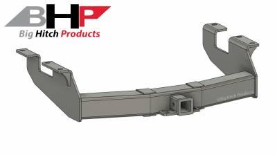 Below Stock Bumper Receiver - Big Hitch Products - BHP 11-19 GM Long Box Stock Bumper 2 inch Receiver Hitch