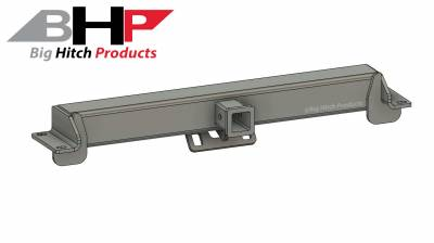 Big Hitch Products - BHP 11-19 LML GM Long Box BEHIND Roll Pan 2 inch Hidden Receiver Hitch