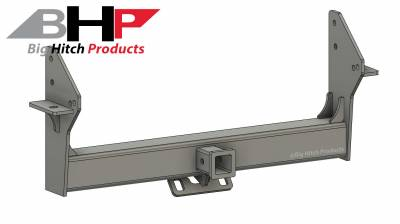 Big Hitch Products - BHP 10-18 Dodge Short/Long Bed BELOW Roll Pan 2 inch Receiver Hitch - Image 1