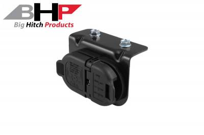 Big Hitch Products - Dodge 7 & 4 Pole Trailer Connector Socket w/Mounting Bracket