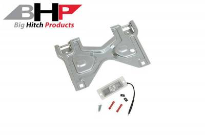 Accessories - Big Hitch Products - Flip Up License Plate Bracket w/Light