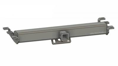 Big Hitch Products - BHP 99-18 GM 1500 Short Box BEHIND Roll Pan 2 inch Hidden Receiver Hitch