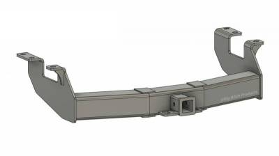 Below Stock Bumper Receiver - Big Hitch Products - BHP 11-19 GM Stock Bumper 2 inch Receiver Hitch