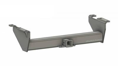 Below Roll Pan Receiver - Big Hitch Products - BHP 07.5-10 GM Long Box BELOW Roll Pan 2 inch Receiver Hitch