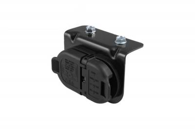 Big Hitch Products - GM 7 & 4 Pole Trailer Connector Socket w/Mounting Bracket - Image 1