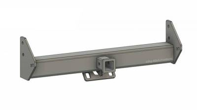 Big Hitch Products - BHP 03-18 Dodge Short/Long Bed BEHIND Roll Pan 2 inch Hidden Receiver Hitch