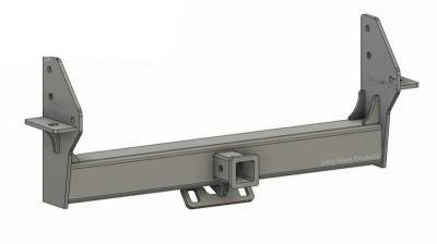 Big Hitch Products - BHP 03-09 Dodge Short/Long Bed BELOW Roll Pan 2 inch Receiver Hitch