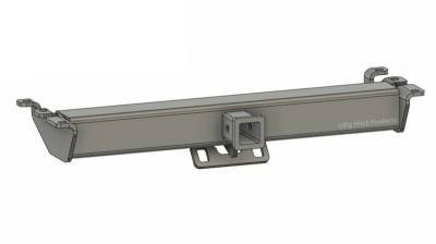 Big Hitch Products - BHP 94-02 Dodge Short/Long Box BEHIND Roll Pan 2 inch Hidden Receiver Hitch - Image 1