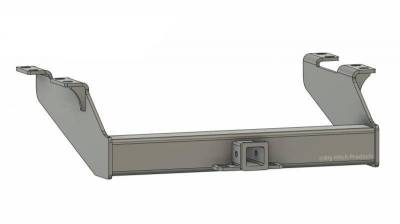 Below Stock Bumper Receiver - Big Hitch Products - BHP 99-16 Ford Short/Long Bed BELOW Stock Bumper 2 inch Receiver Hitch