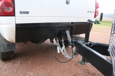 Big Hitch Products - BHP 03-18 Dodge Short/Long Bed BEHIND Roll Pan 2 inch Hidden Receiver Hitch - Image 5